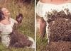 Ciężarna Amerykanka pozowała z tysiącami pszczół na ciele. Urodziła martwe dziecko