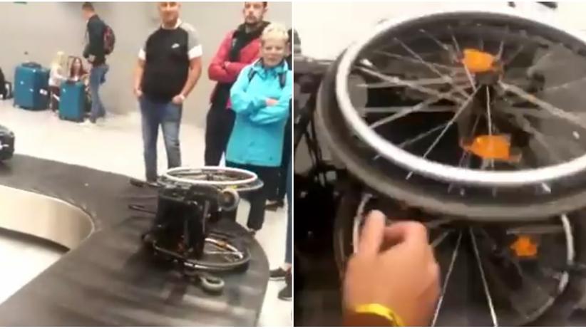 Katowice. Bulwersująca sytuacja na lotnisku. Wózek dziecka wjechał na taśmie bagażowej