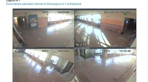 Czy monitoring podgląda uczniów w toalecie? Zapytaliśmy o to dyrektora gimnazjum w Puławach