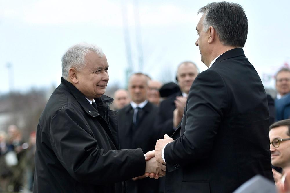 Jarosław Kaczyński i Victor Orban