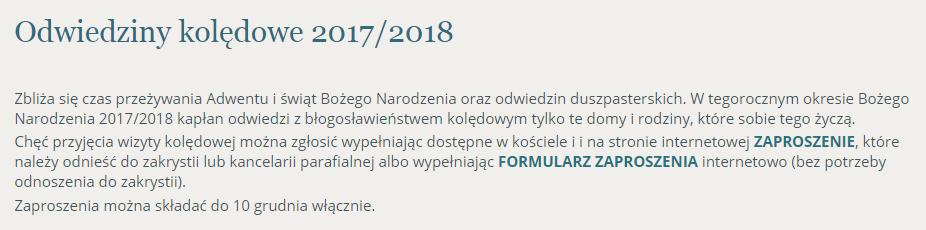 śląskie Zaproszenie Księdza Na Kolędę Wiadomości Radiozet