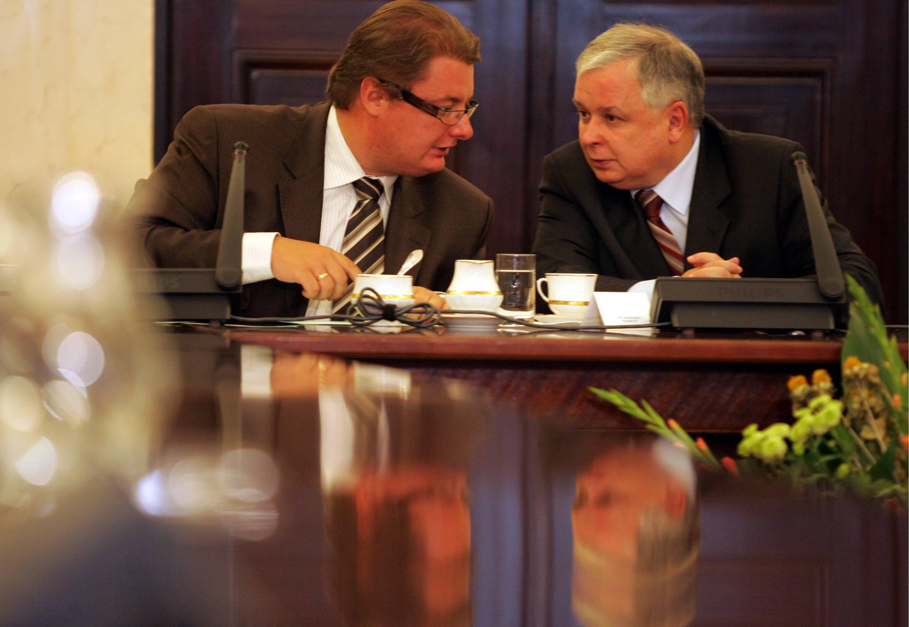 Michał Kamiński i Lech Kaczyński