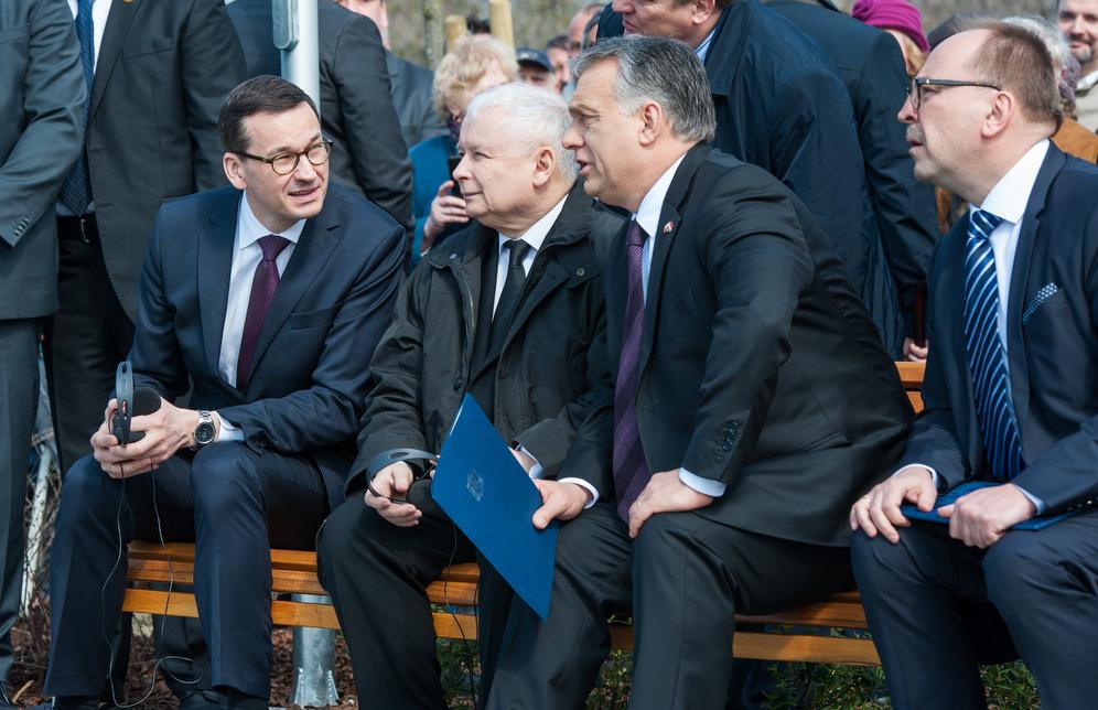 Morawiecki, Kaczyński i Orban