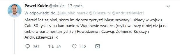 P.Kukiz Twitt1
