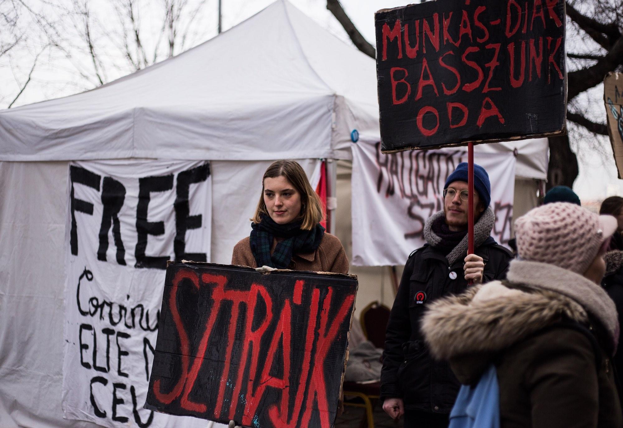 Podczas antyrządowych protestów w Budapeszcie