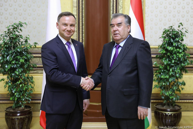 Prezydent Polski Andrzej Duda i Tadżykistanu Emomali Rahmon
