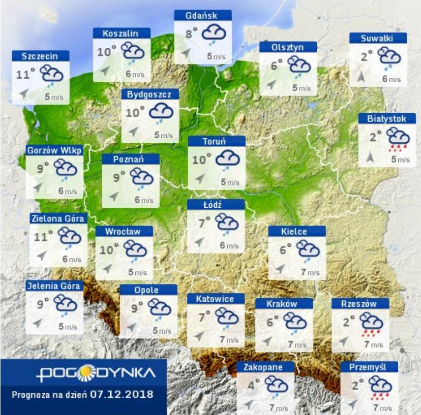 Prognoza pogody IMGW 07.12