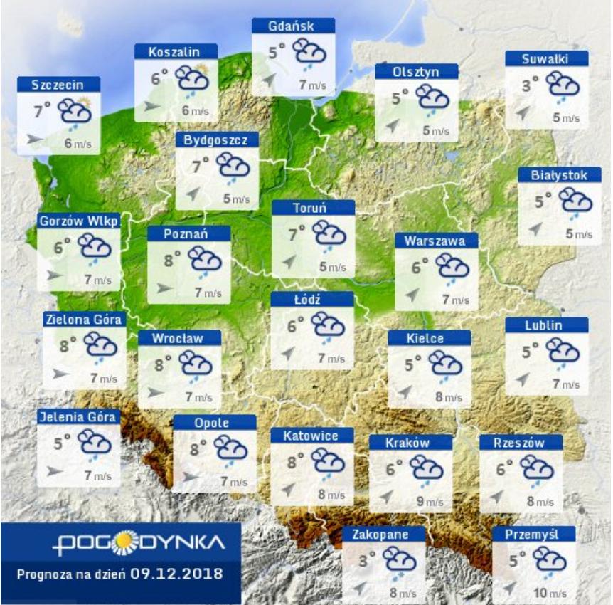 Prognoza pogody IMGW 09.12