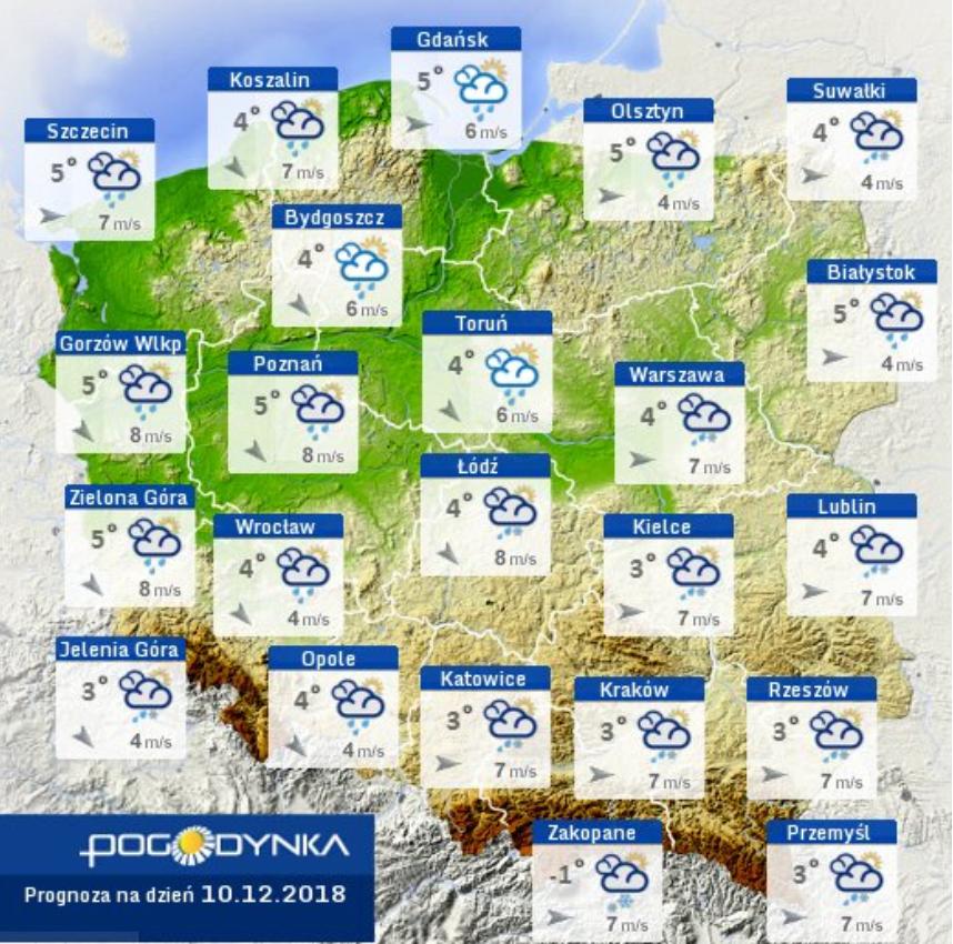 Prognoza pogody IMGW 10.12