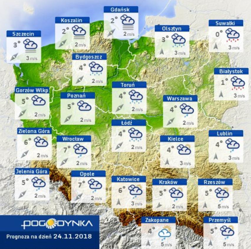 Prognoza pogody IMGW 24.11