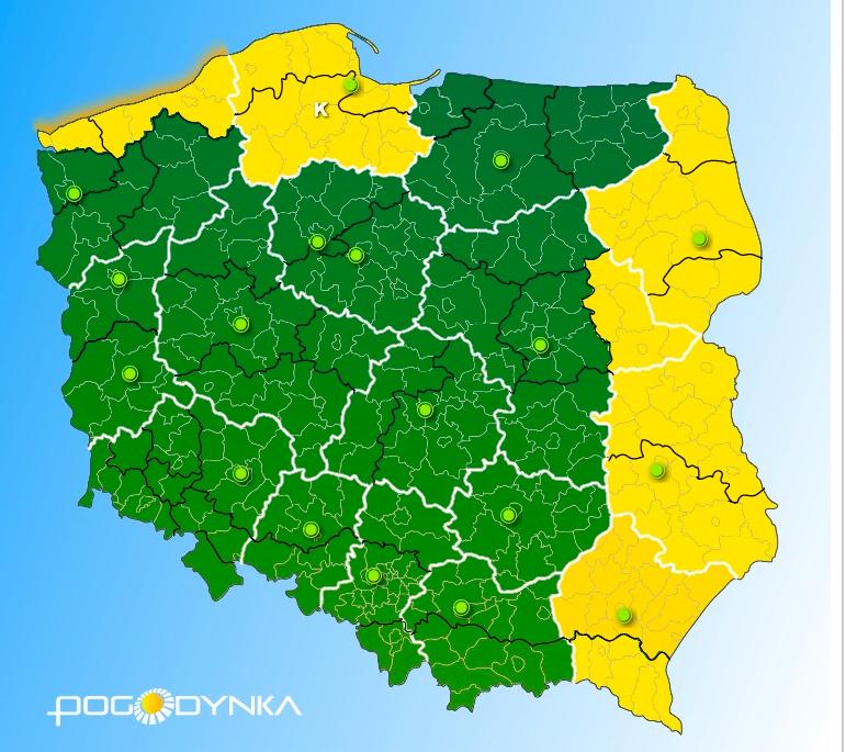mapa Polski IMGW