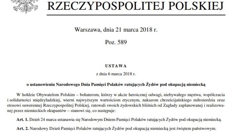 Będzie nowe święto państwowe. Duda ustanowił Dzień Polaków ratujących Żydów