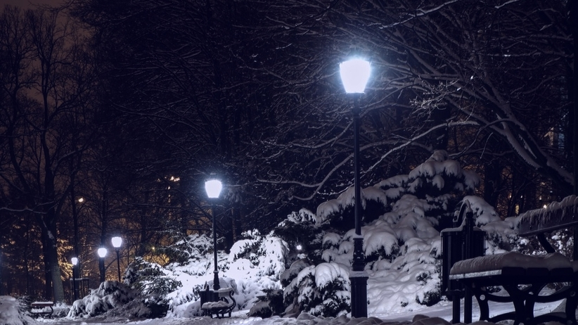 Mróz, zima, noc