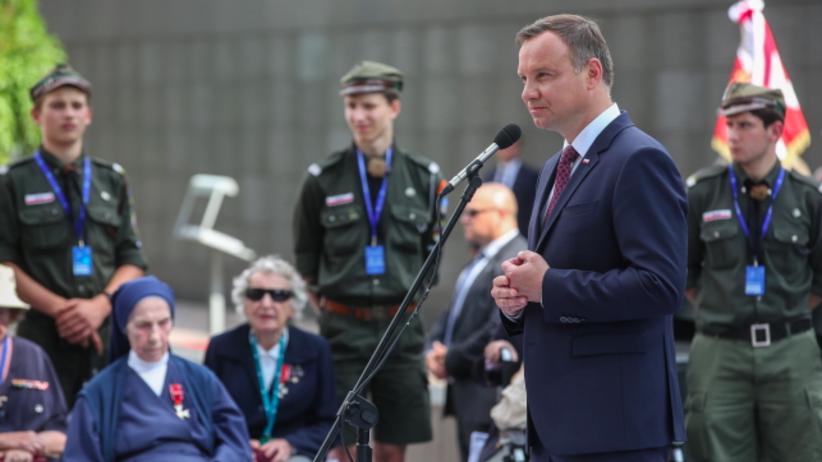 Andrzej Duda: Warszawiacy walczyli o dumę, Boga, honor i ojczyznę