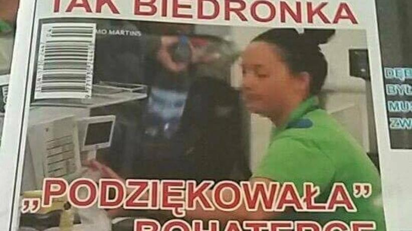 Kasjerka Biedronki pobiegła pomóc bitemu człowiekowi. Sklep wyrzucił ją z pracy