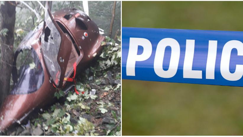 Bielsko-Biała. Wypadek wiatrakowca, dwie osoby ranne