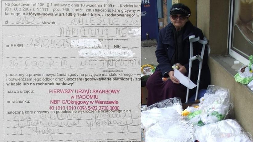 Brawurowa akcja radomskiej skarbówki. Ukarali mandatem 90-latkę