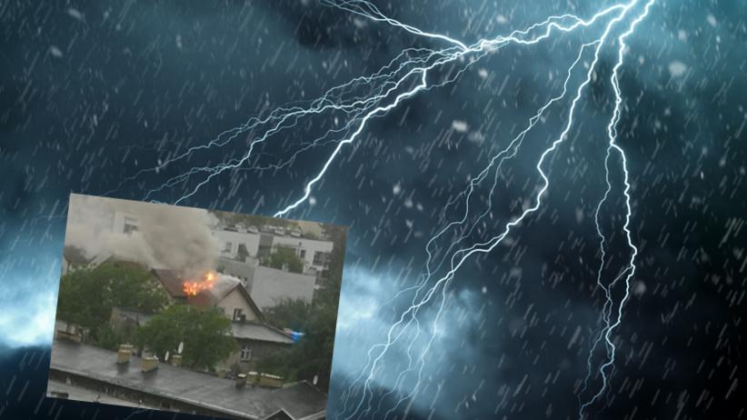 Front burzowy nad Polską. Piorun uderzył w dom mieszkalny [FOTO]