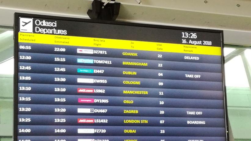 Chorwacja. Polscy turyści utknęli na lotnisku w Dubrowniku