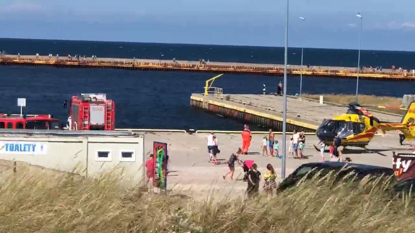 Darłówek. Poszukiwania dwójki dzieci, które kąpały się w Bałtyku