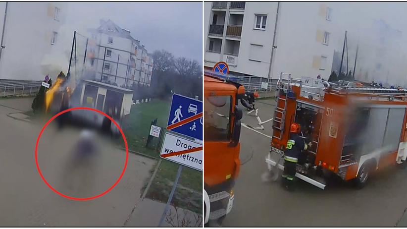 Dolnośląskie. Nastolatek dokonał serii podpaleń w Miliczu. Jako świadek obserwował akcję strażaków