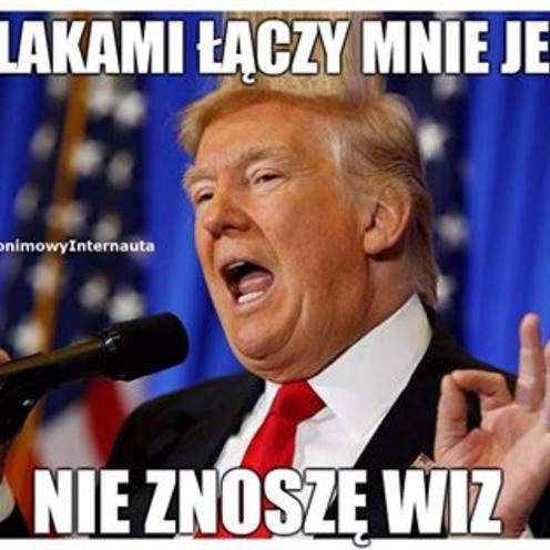 Donald Trump w Polsce [MEMY]