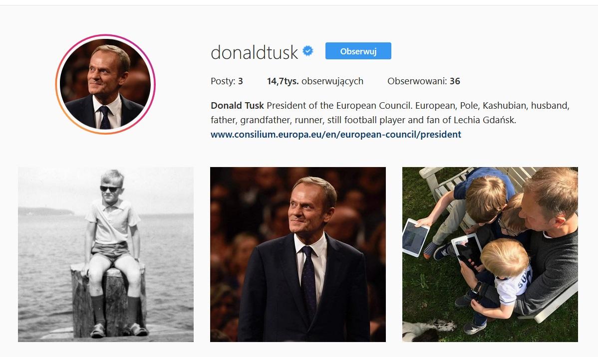 Donald Tusk Instagram