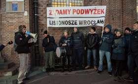 Protest listonoszy we Wrocławiu