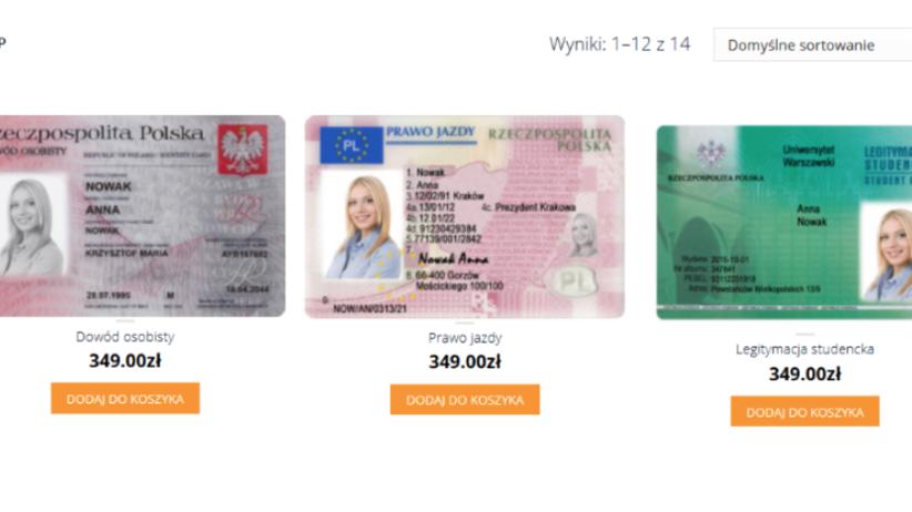 Fałszywy dowód osobisty lub prawo jazdy? Wciąż do kupienia za 350 zł