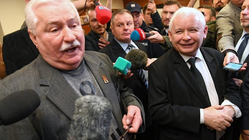 Gdańsk. Starcie Kaczyńskiego z Wałęsą w sądzie, doszło do utarczek słownych