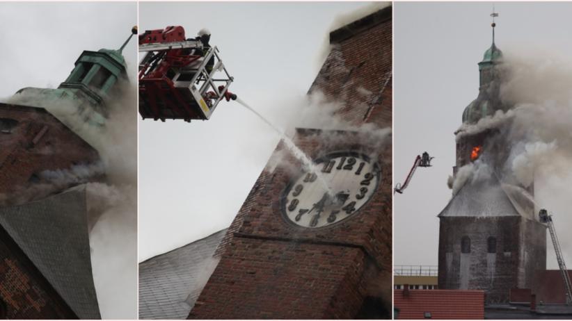 Płonie katedra w Gorzowie Wielkopolskim. Trwa akcja gaśnicza [ZDJĘCIA]