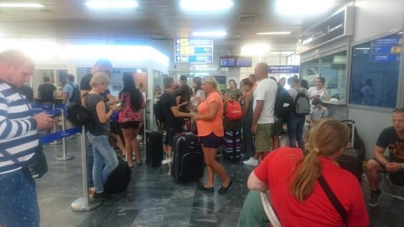 polscy turyści utknęli na lotnisku na wyspie Lesbos