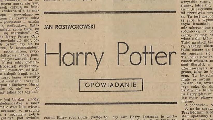 Pierwszego Harry'ego Pottera napisał Polak. Udostępniono zapomniane opowiadanie z 1972 r.