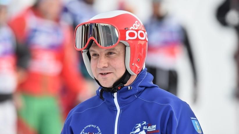 Duda na nartach