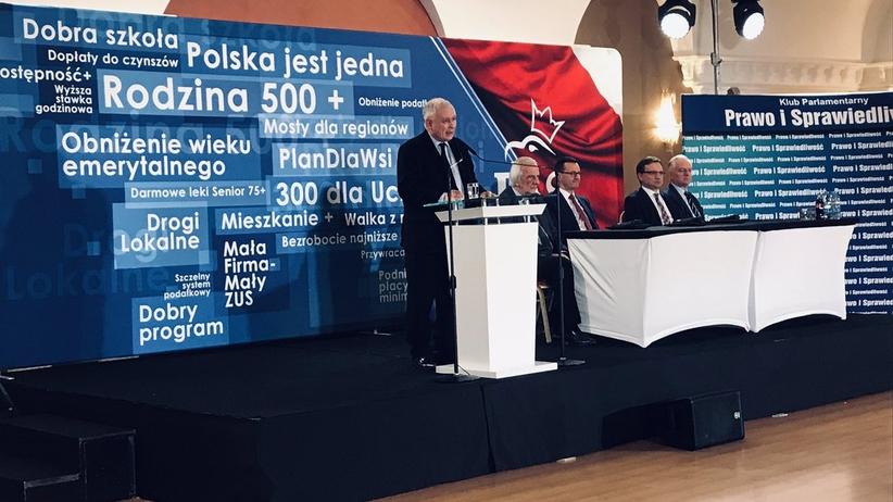 Kaczyński w Jachrance: jeśli ktoś łamał konstytucję, to nasi polityczni przeciwnicy
