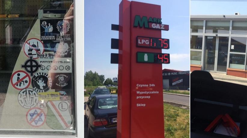 Zakaz pedałowania i przekreślona flaga Izraela na stacji benzynowej. To odkrył znay reporter tankując auto