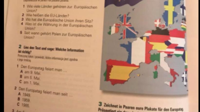 Kompromitujący błąd w podręczniku do gimnazjum. Pomylono nawet Polskę