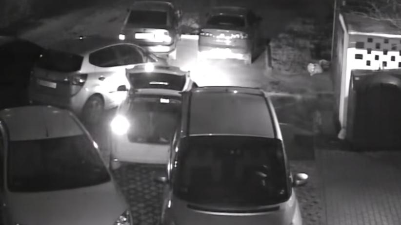 Kraków: urządził sobie rajd i zniszczył 17 samochodów [WIDEO]