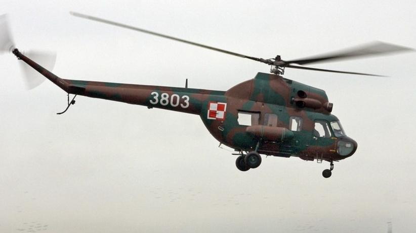 Wojskowy śmigłowiec rozbił się obok lotniska. Maszyna stanęła w ogniu