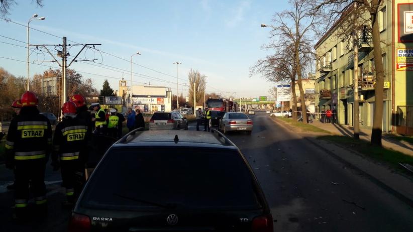 Wypadek w Łodzi. Dwoje dzieci w szpitalu