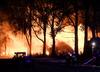 Łódzkie. Pożar wysypiska. Z ogniem walczy 30 zastępów straży pożarnej
