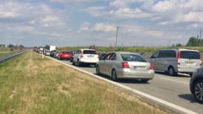 Polska stoi w korkach. Zablokowana A1 po starciach pseudokibiców