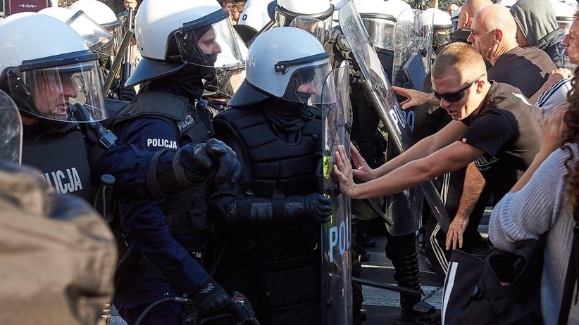 Lublin. 8 rannych policjantów po blokowaniu marszu równości