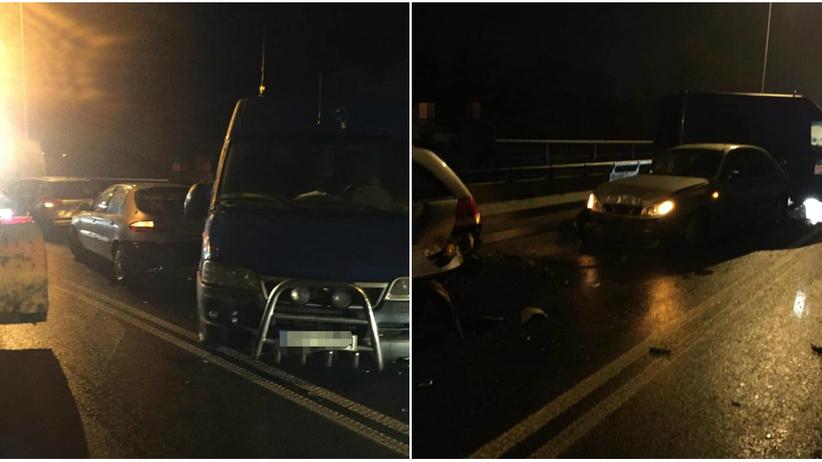 Małopolska. Karambol na drodze wojewódzkiej w Dobczycach. Zderzyło się 13 samochodów