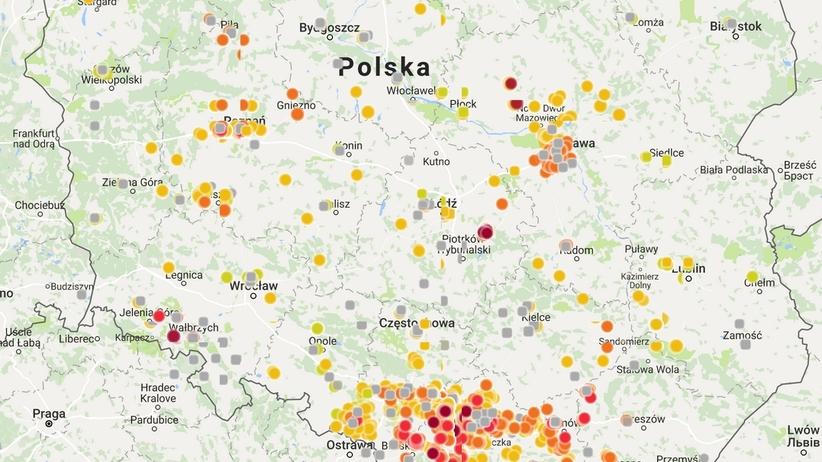 Mapa Smogu W Tych Miastach Dzis Jest Najgorsze Powietrze Wiadomosci
