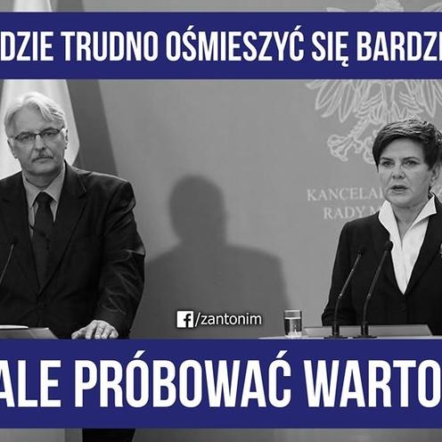 Witold Waszczykowski wraz z premier Szydło