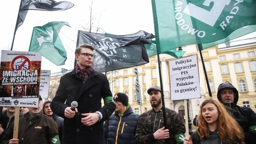 """Narodowcy protestowali przeciwko Ukraińcom. """"Praca w Polsce dla Polaków"""""""