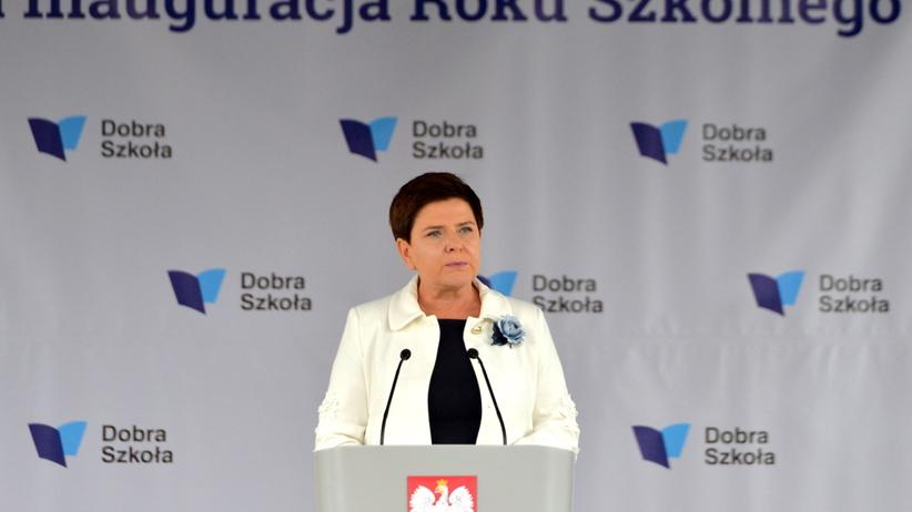 Premier Szydło: polska szkoła będzie nowoczesna, ale będzie też czerpała z tradycji