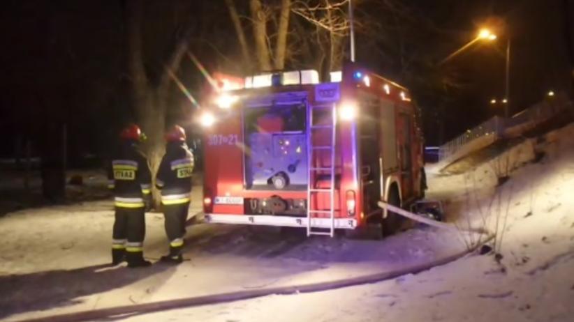 Tragiczny pożar domu. Zginęła kobieta z wnukiem