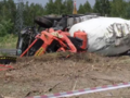 Wypadek betoniarki DK17